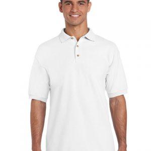 tricou-barbati-polo-gildan-alb-3xl-4xl-5xl