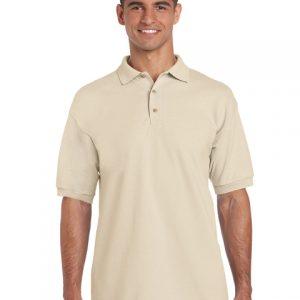 tricou-barbati-polo-gildan-gri-sand-3xl-4xl-5xl
