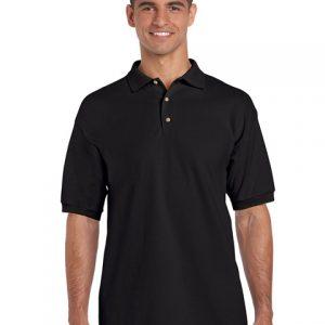 tricou-barbati-polo-gildan-negru-3xl-4xl-5xl
